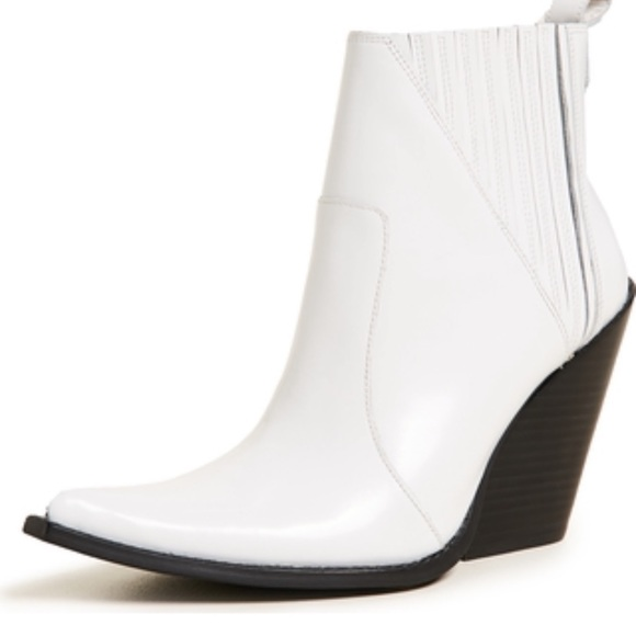 Jeffrey Campbell White Homage Bootie
